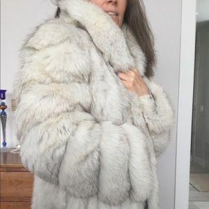 Genuine Blue Fox Coat / Jacket Saga